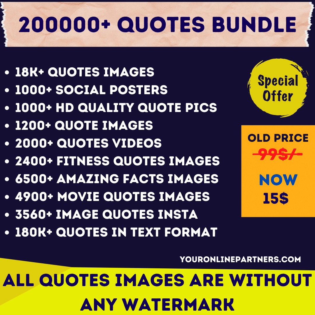 200k+ Quotes bundle with text and images